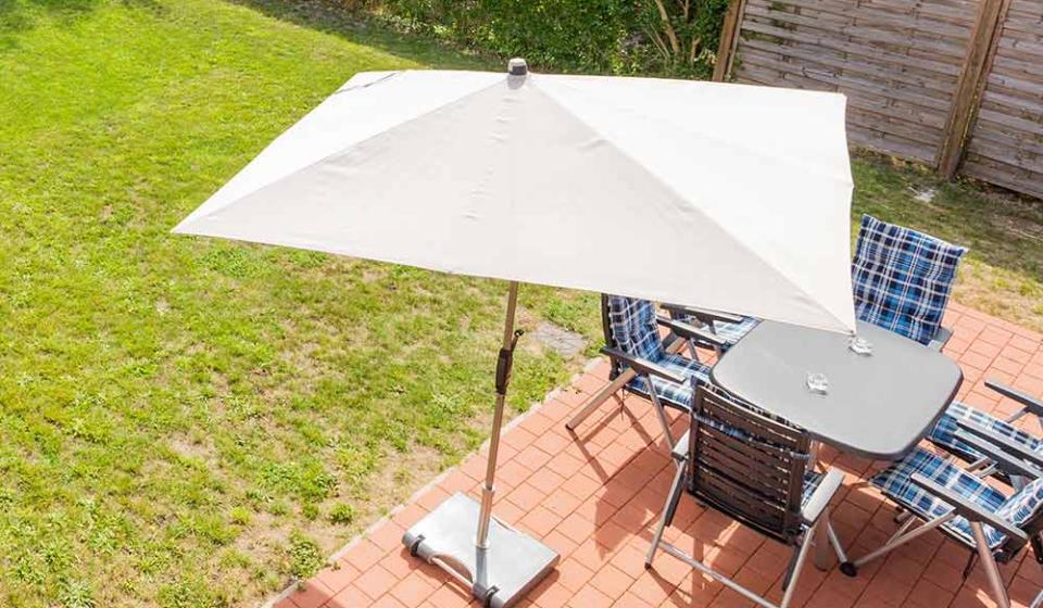 Langeoog Garten Sonnenschirm