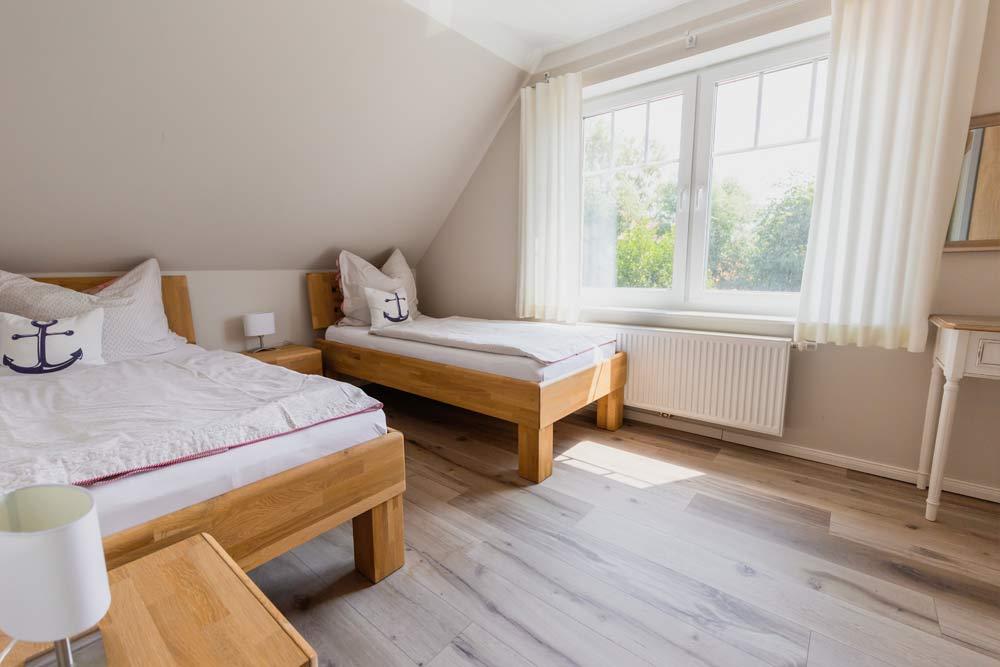 Fewo Langeoog Schlafzimmer einzelnbett